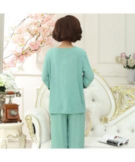 Plus size long sleeved cotton pyjamas sets women s...