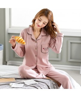 Long Sleeve New Cotton pyjamas Casual pajama Set