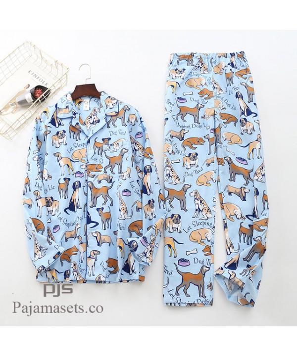 Long Sleeve Pure Cotton Wool Pyjama set male for spring cheap comfy couple  set pjs cotton 05d899897