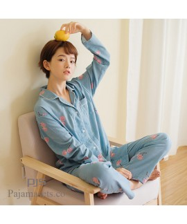 Long Sleeve Cotton Set pjs female for spring comfy...