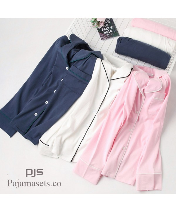 New Long Sleeve sleepwear Set female for spring Si...