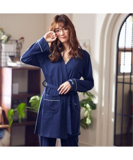 Cotton Sexy Long Sleeve Sleepwear Female for Sprin...