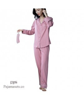19 New Coloured Cotton Long Sleeve Loving pajama sets for women comfy set pjs female
