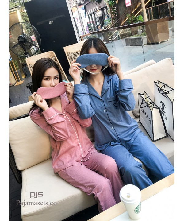 19 New Coloured Cotton Long Sleeve Loving pajama s...
