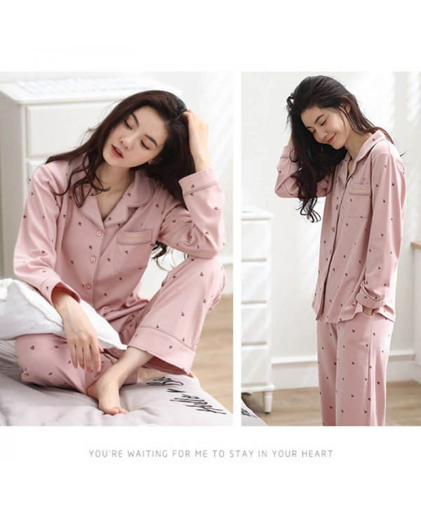 New leisure pure cotton women's pajama sets for wo...