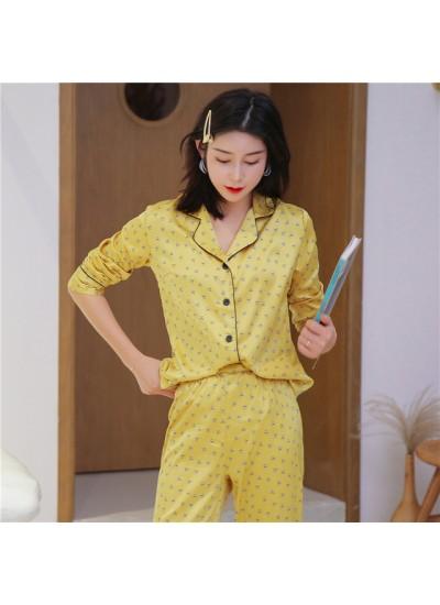 2019 Sexy Pyjamas Women's for spring Long Sleeve Slim Two Sets of Pajamas