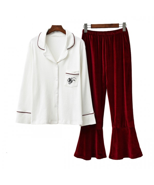 Pure cotton new ladies' sleepwear for spring long ...