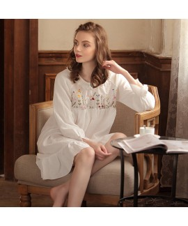 New cotton lounge pajamas female comfy sleepwear w...