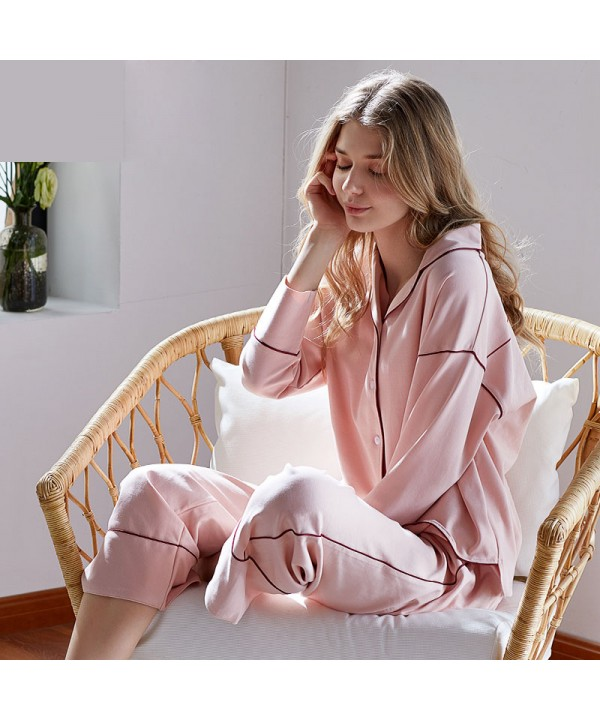 cotton  loose long sleeved Pajamas female,women's ...