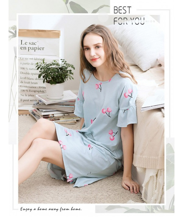Comfortable women cotton pajamas for spring soft p...