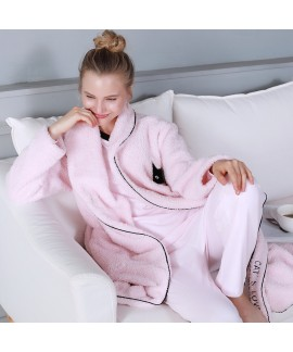 autumn and winter pink outdoor wear,Flannel pajama...
