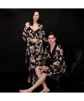 Luxury women's three-piece pajama Set in summer Lo...
