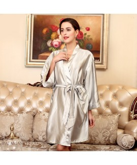 Plus size simulated silky nightwear sets in summer...