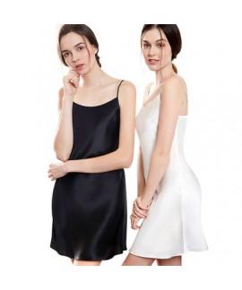 Sexy real Silky nightwear for women luxury silk female pajamas sets in spring