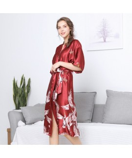 Simulated silk wedding pyjamas for women luxury fe...