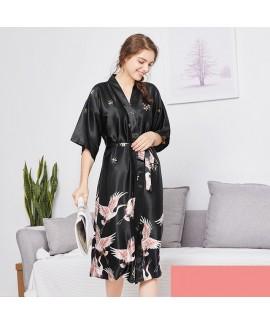 Simulated silk wedding pyjamas for women luxury female bridesmaid pj sets