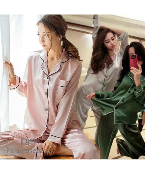 New Long Sleeve Lady's sleepwear sets for spring c...
