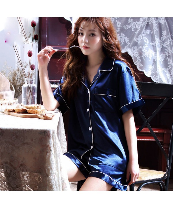 Two set of pajamas for women large size luxury Sat...
