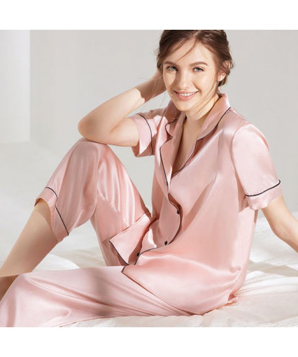 Mulberry Silk pajamas for ladies luxury women pajama short sets for spring