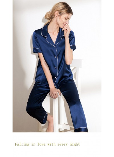 Mulberry Silk pajamas for ladies luxury women pajama short sets for spring