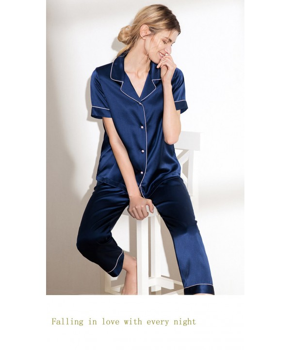 Mulberry Silk pajamas for ladies luxury women paja...