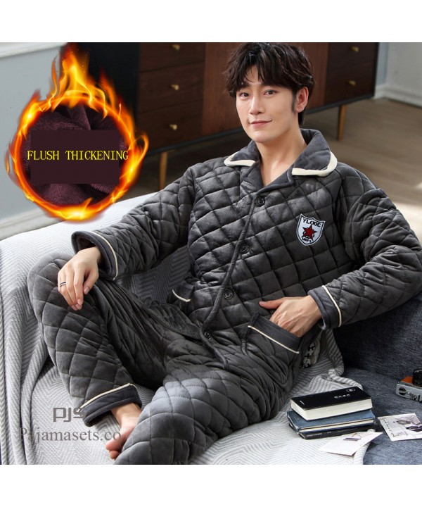 Winter comfy Pajama Men's Thickening cheap Cotton ...