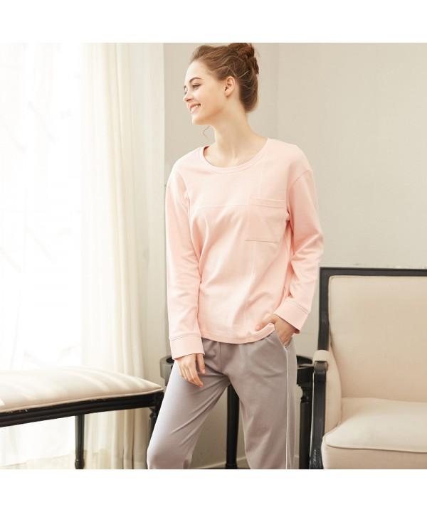Long Sleeved Pajamas Women S Cotton Dress Suit Winter Wear Pajamas