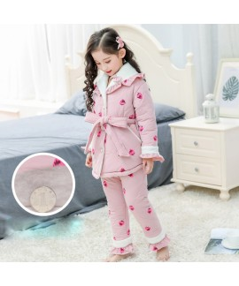 Children's COTTON PAJAMA set with velvet family ma...