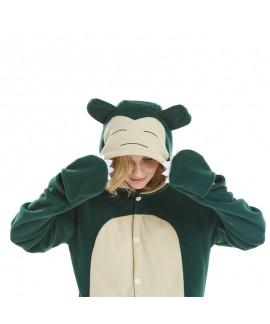 Kabi animal cartoon one-piece pajamas fleece long sleeve couple pajamas in autumn and winter