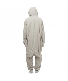 Grey seal and sea lion cartoon one piece pajamas with fleece long sleeve couple pajamas