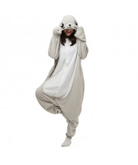 Grey seal and sea lion cartoon one piece pajamas w...