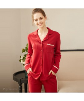 Spring and summer pure cotton sleepwear women's pa...