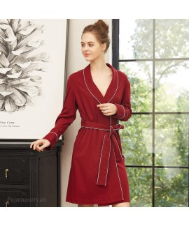 long sleeve sexy women's spring bathrobe knitted c...