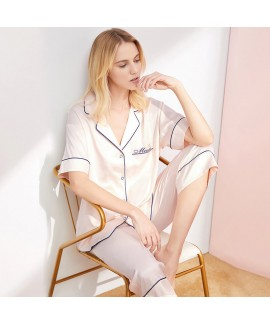 Versatile thin silk like Capris pajama sets