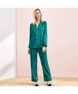 Casual two piece cardigan pajama sets large size i...