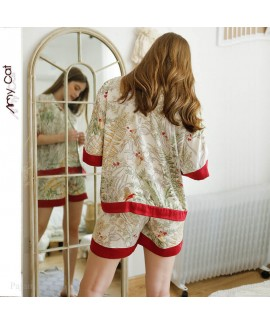 2020 collarless Pullover Pajama set leisure sleepwear for women