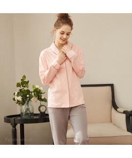 New long sleeve pajamas women's cardigan cotton sl...