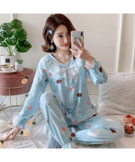 Spring and autumn long sleeve Pajama women's milk ...