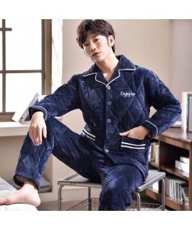 Three layer extra thick flannel sleepwear coral tw...