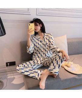 Ins small fresh sleepwear two piece pajamas sets