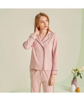 2020 new Pajama women's cotton sleepwear for spring long sleeve high quality pajama set