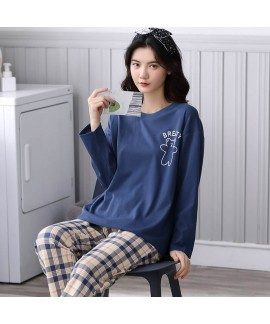 Autumn cotton pajamas women's lovely Pullover leis...