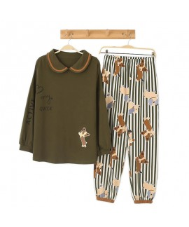 Loose round collar Pullover lovely girl's leisure ...